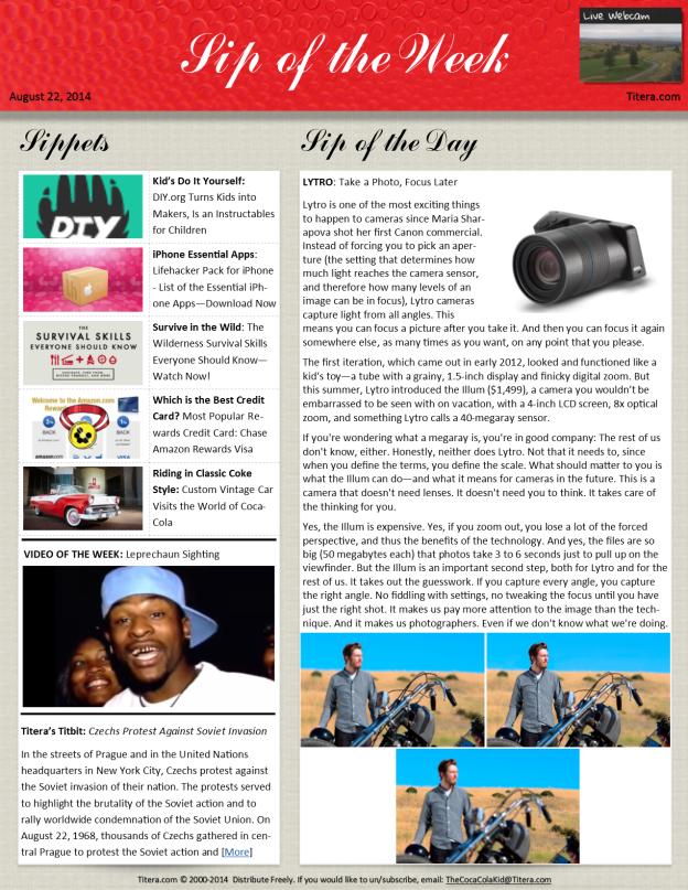 20140822 Sip of the Week